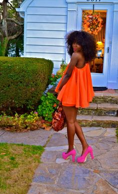 The hair the dress... Just works...gorgeous