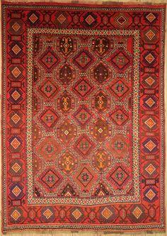 Kurdii  handgefertigt orientalisch  Nomadischen Teppich 290 x 211 cm Carpet
