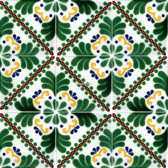 Glamorous Mexican Tile Floors With White,blue And Yellow Talavera Tile Color