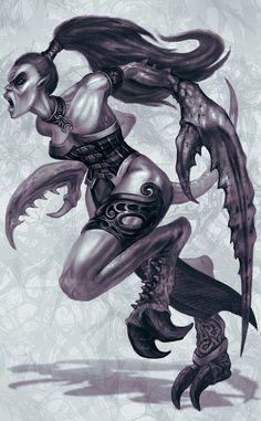 Daemonette of Slaanesh by jubjubjedi.deviantart.com on @DeviantArt