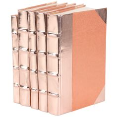 Metallic Rose Gold Book Set of 5 @LaylaGrayce