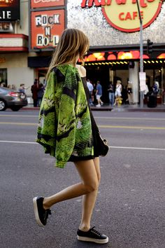 Chiara is wearing styligion dress, Bomber jacket, jewels,sunglasses and clutch superga for The Blonde Salad sneakers....