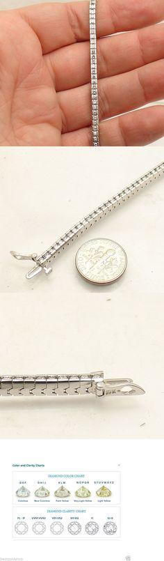 Diamond 10976: 3.01Tcw 7 Natural Genuine Diamond Tennis Bracelet Real Solid 14K White Gold -> BUY IT NOW ONLY: $1999.0 on eBay!