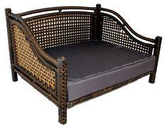 The Paws Mahal - Rattan Indoor/Outdoor Rectangular Maharaja Pet Sofa Bed , $158.79 (http://www.thepawsmahal.com/rattan-indoor-outdoor-rectangular-maharaja-pet-sofa-bed/)