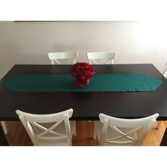 Kitchen Table Runner, Table Decor, Handmade Apples Table Runner, Table... ($29) ❤ liked on Polyvore featuring home, kitchen & dining, table linens, thanksgiving table runner, xmas table runners, cotton runner, fall table linens and flower stem