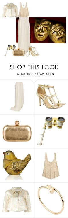 """""""A night at the opera."""" by cardigurl ❤ liked on Polyvore featuring Vionnet, Dee Keller, Alexander McQueen, Judith Leiber, Calypso St. Barth, Dolce&Gabbana and Cartier"""