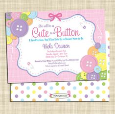 Cute as a button baby shower free printables weheartparties cute as a button baby shower invitation digital printable file item l2p filmwisefo Choice Image