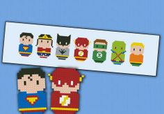 Justice League of America chibi - PDF pattern by cloudsfactory