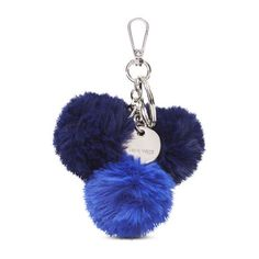 Nine West Pom Pom Bag Charm (200 MXN) ❤ liked on Polyvore featuring accessories, blue multi, nine west and pom pom key ring