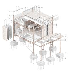 Looking for tips and techniques to create exploded axonometric views - SketchUp . - Looking for tips and techniques to create exploded axonometric views – SketchUp / Pro – SketchU - Collage Architecture, Architecture Design, Architecture Presentation Board, Architecture Graphics, Architecture Student, Architecture Drawings, Architectural Presentation, Tectonic Architecture, Enterprise Architecture