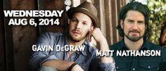 Gavin Degraw and Matt Nathanson  August 6th, 2014