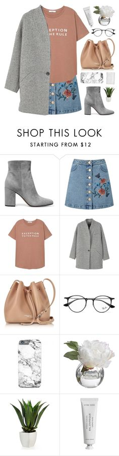 """lita"" by novalikarida ❤ liked on Polyvore featuring Gianvito Rossi, Miss Selfridge, MANGO, Lancaster, Ray-Ban, Diane James, Converse and Byredo"