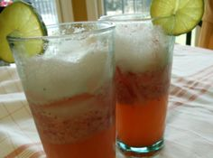refreshing on a hot summer day. If you want to dress this up for a party, put a lemon slice, a strawberry and a lime slice on a skewer and lay on top of the glass. It also works well if you want to add vodka to make a mixed drink.