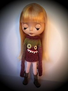 Monster sweater for Blythe Knitting pattern by Pollymakes | Knitting Patterns | LoveKnitting