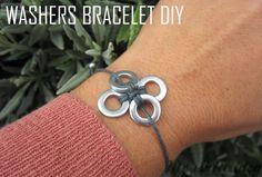 WASHERS BRACELET DIY | MY WHITE IDEA DIY