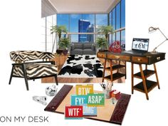 """""""On My Desk - """"Great View, No Work, Oh Well"""""""" by daincy on Polyvore"""