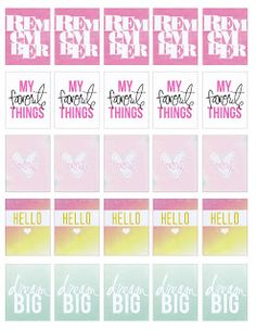 Free Printable Heidi Swapp Inspired Planner Stickers from Ashley Lynn Impression