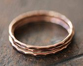 14k rose gold stacking rings, eco friendly, thin gold band, solid rose gold band, stack ring, recycled, size 9.25 to 13