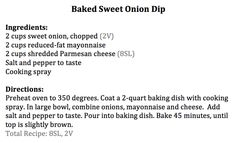Baked Sweet Onion Dip