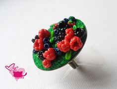 Another fimo berries this time on rings :)