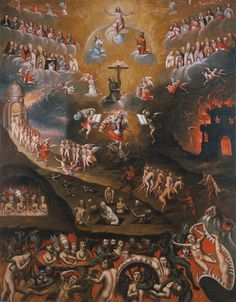 "COLLECTING: Carl & Marilynn Thoma (by Nancy Zastudil) - Image: Unidentified Artist (Cuzco, Peru), ""The Last Judgment,"" late 17th or early 18th century"