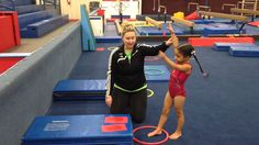 It's a handstand of course! Not only are handstands SUPER fun for kiddos, but if we do a great job teaching them this basic we are setting t… Toddler Gymnastics, Gymnastics Lessons, Preschool Gymnastics, Gymnastics Floor, Gymnastics Tricks, Tumbling Gymnastics, Gymnastics Coaching, Gymnastics Workout, Gymnastics Problems