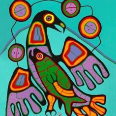 The Great Eagle by Norval Morrisseau, Ojibwe Artist Inuit Kunst, Inuit Art, Native Art, Native American Art, Art Haïda, Claudia Tremblay, Kunst Der Aborigines, Woodland Art, Art Populaire