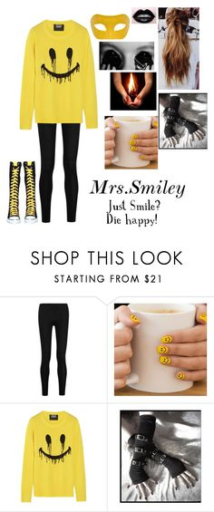 """""""Creepypasta oc ~ Mrs.Smiley"""" by nightmare-proxy ❤ liked on Polyvore featuring Donna Karan, Markus Lupfer and Masquerade"""