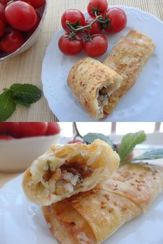 Leek-and-Rice-Rolls - a lovely light appitizer for a ladies lunch! Quick Recipes, Raw Food Recipes, Quick Easy Meals, My Favorite Food, Favorite Recipes, Best Vegetable Recipes, Rice Rolls, Asian, Finger Foods