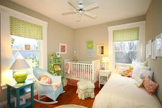 Two little ones share this kids' #bedroom