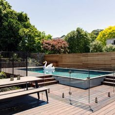 10 Sublime Cool Tips: Wooden Fence Gate easy fence crafts.Chinese Fence Design small fence with gate.Fence Plants How To Make. Glass Pool Fencing, Glass Fence, Pool Fence, Backyard Fences, Garden Fencing, Backyard Ideas, Pool Ideas, Front Yard Fence, Farm Fence