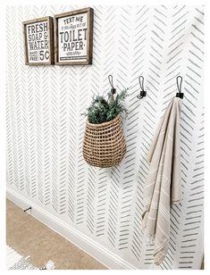 Guest Bathroom Decor #guest #bathroom #towels #guestbathroomtowels Bathroom Accent Wall, Bathroom Accents, Downstairs Bathroom, Mirror Bathroom, Design Bathroom, Bathroom Ideas, Bathroom Towel Hooks, Shower Towel, Deco Champetre