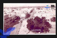 Plaza principal, al fondo se observa la calle Madero, (foto AGM)