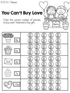 math worksheet : check this freebie out! what kid doesnu0027t loved a holiday themed  : Valentine Math Worksheets