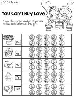 valentine 39 s day kindergarten math worksheets kindergarten math worksheets kindergarten math. Black Bedroom Furniture Sets. Home Design Ideas