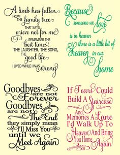 Sympathy Card Sayings, Sympathy Gifts, Condolence Gift, Glass Plaques, Personalized Memorial Gifts, Grieving Quotes, Scrapbook Quotes, Verses For Cards, Card Sentiments