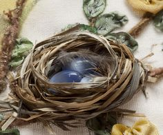 How to make the nest  ********************************************  DivanNiekerk - #embroidery #crafts #nest - tå√