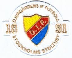 Djurgardens IF Fotboll Swedish Sweden Football Soccer Badge Embroidered Patch