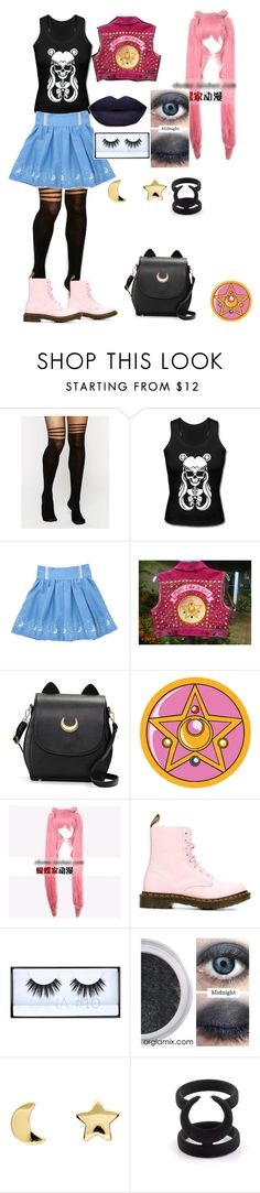 """""""punk sailor moon #2"""" by freespirt3339 ❤ liked on Polyvore featuring ASOS, Usagi, Coshome, Dr. Martens, Erica Weiner, outfit and sailormoon"""