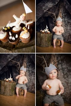 """Where the Wild Things Are Cake Smash - well, not as much """"smashing"""" here, but still INSANELY CUTE!! One of my top favorites!"""