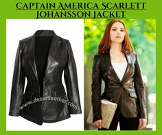 Captain America Jacket for women. Buy Scarlett Johansson Jacket available at our Store Desert Leather. Including Free Gifts and Worldwide Shipping.  #CaptainAmerica #Movie #ScarlettJohansson #Sexy #Hot #Holidays #NewYear2017 #WinterCostume #Outfits #Celebrity #Fashion #Cosplay #geektyrant #geek #sale #Shopping #Onlineclothingstore #WomensFashion #WomensWear #WomensOutfit