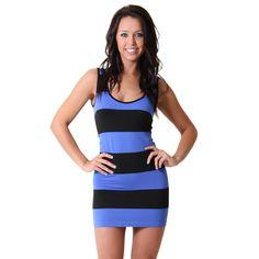 Striped Body Con #Dress in Blue