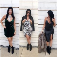 Destination Dresses   Marissa Dress  Daphne Necklace  Jasmine Bootie  Colby Dress  Vixen Dress  Kaylee Necklace  Jackie Faux Fur Jacket Use Code: DRESS25 for 25% off all dresses now thru Sunday!