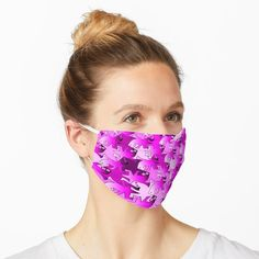 """Pink Tribal Pattern"" Mask by artlovepassion Neon Jungle, Blue Mask, Angler Fish, Mask Design, Tie Dyed, Green And Purple, Purple Haze, Purple Roses, Deep Purple"