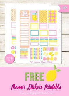 Cool Lemonade Planner Stickers - Free printable