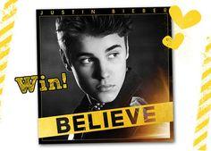 Win de nieuwe cd van Justin Bieber