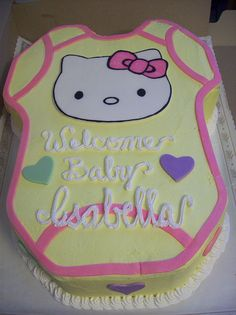 Hello Kitty Baby Shower Cookies | Baby Shower | Pinterest | Baby Shower  Cookies, Babies And Showers