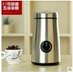 75.00$  Buy here - http://alix1y.worldwells.pw/go.php?t=32598948554 - Free shipping Electric grinding machine of stainless steel coffee beans small household grain 75.00$