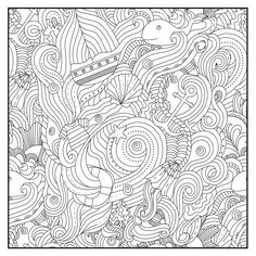 Coloring Pages Ocean Designs Adult Book Stress Relieving For Adults Printable