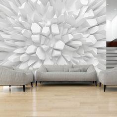 Papier peint White dahlia - Home Page Wallpaper For Home Wall, Modern Wallpaper, Wallpaper Ideas, Poster Mural, Mural Wall Art, 3d Wandplatten, White Dahlias, 3d Wall Panels, Interior Design